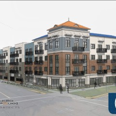 """Uptown plans $17 million residential-business complex, """"The Marketplace,"""" at site of old YWCA"""