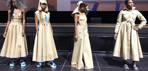 Flotsam to fashion: salvaged water bottles become raincoats, swimsuits in Flint Fit project