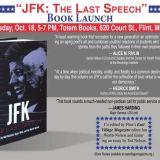 Event – JFK: The Last Speech – Book Launch In Flint, MI