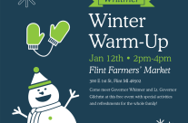 """Governor Whitmer's """"Winter Warm-up"""" draws huge crowds at Flint Farmers' Market"""