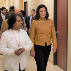"""""""When we have a healthier population we have a healthier economy,"""" Gov. Whitmer said in Flint today"""