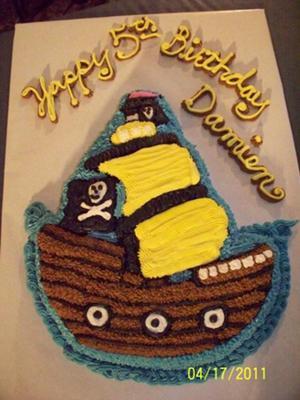 Damien S Pirate Ship Cake