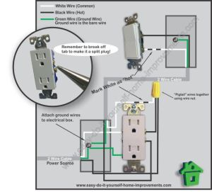 Switched Outlet Wiring Diagram
