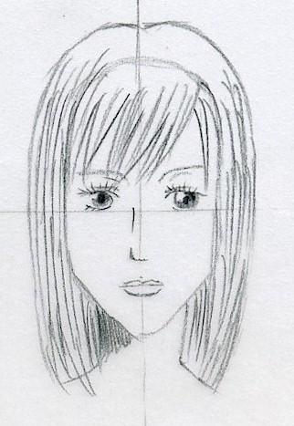 Draw Manga Hair Easily
