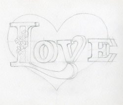 Learn To Draw A Heart. Very Inspiring.