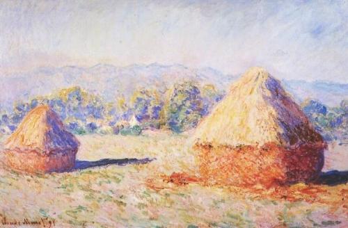 Monet Haystacks, investigate impressionistic painting and ...