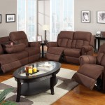 3 Piece Sofa Set Recliner With Fold Down Cup Holders