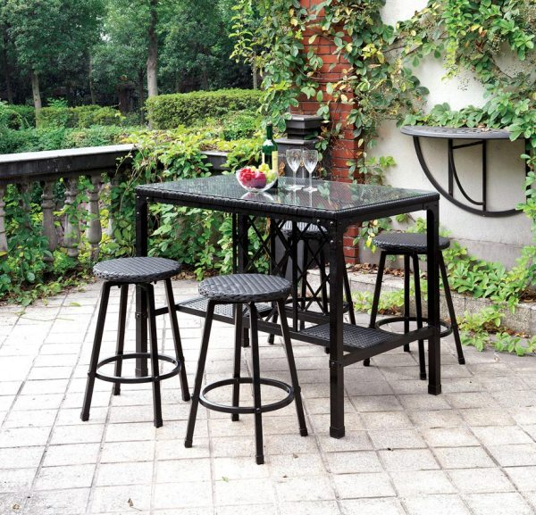 outdoor bar height patio dining sets 5 Pc Patio Counter Height Dining Set
