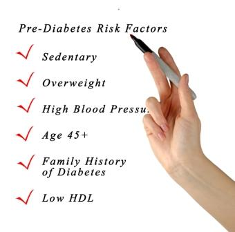 Pre-diabetes risk factors
