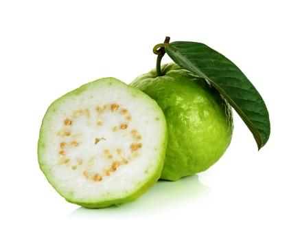 Guava fruit with leaf