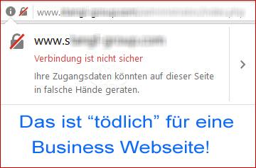 Viele Joomla Webseitenbetreiber haben es noch nicht realisiert. Da nützt auch die tollste Webseite nichts, wenn davor gewarnt wird.