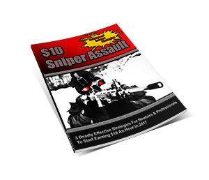 Picture of a $10 sniper assault shown as a colourful magazine