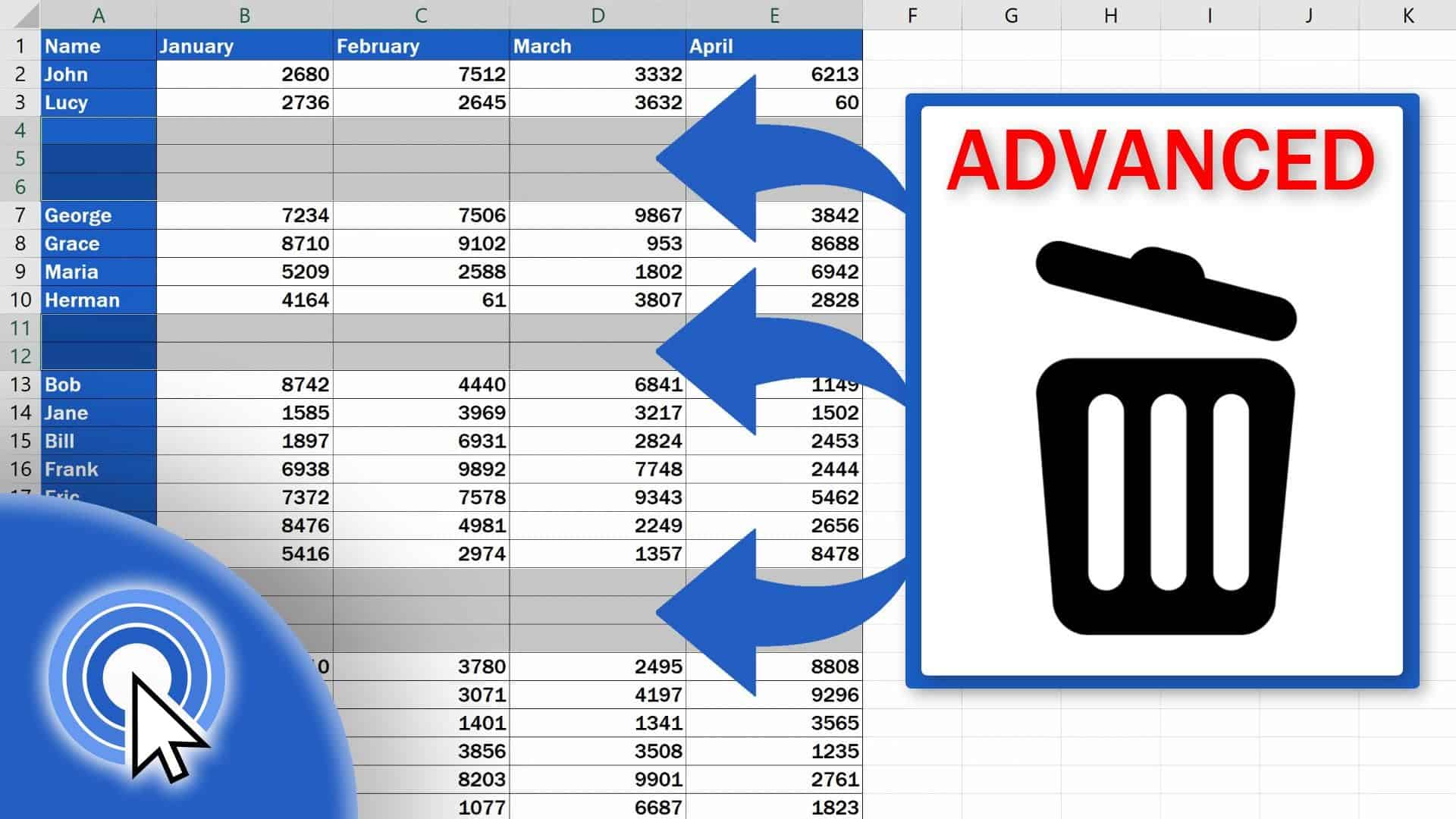 How To Remove Blank Rows In Excel Advanced