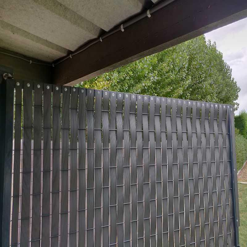 kit portail grillage easy home avec lamelles pvc