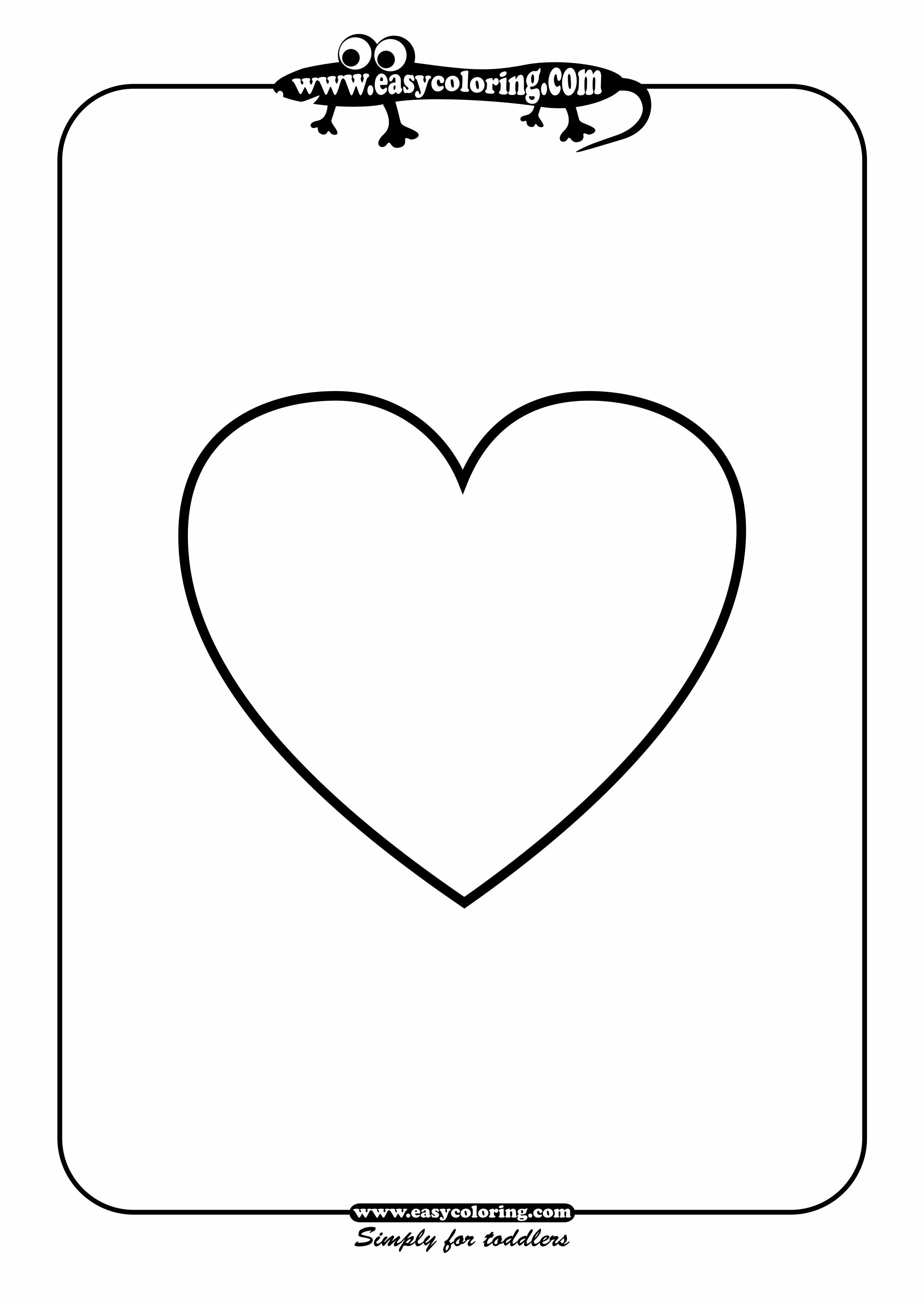 Heart Worksheet For Toddlers