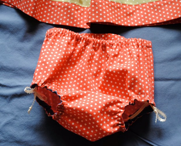 Baby Hat, Dress and Diaper Cover Sewing Project