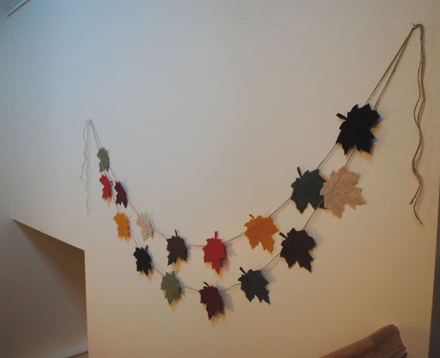 fall felt leaves