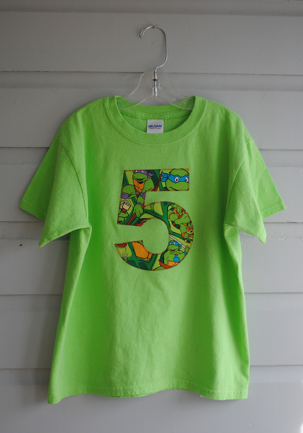 TMNT Birthday Shirt Easy Craft And Sew
