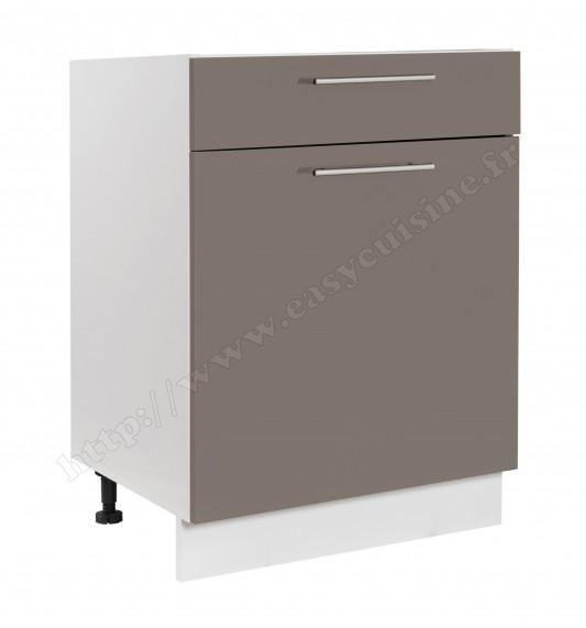 meuble bas cuisine 60cm 1 porte 1 tiroir