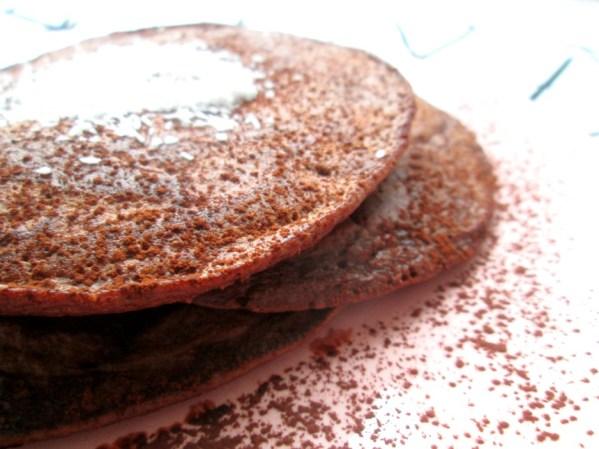 gezonde chocolade pannenkoeken