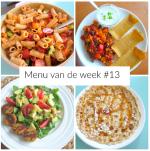 menu van de week