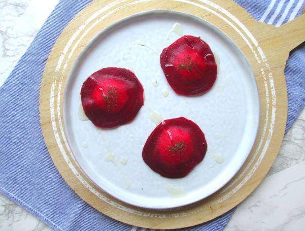 ravioli van rode biet