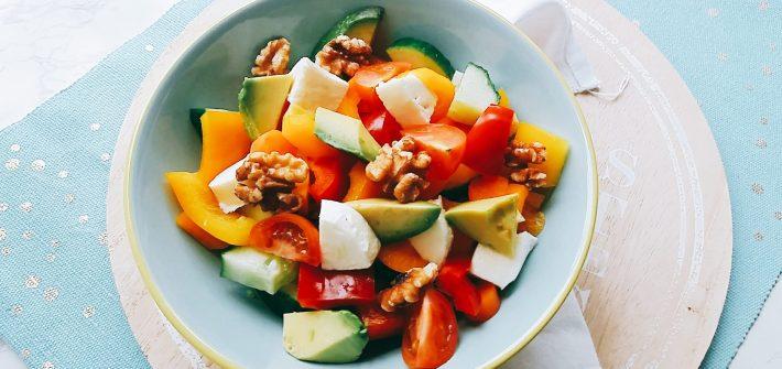 salade met paprika koolhydraatarm