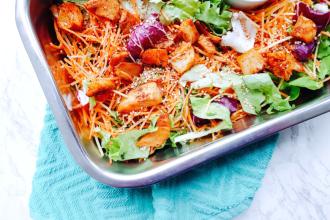 makkelijke salade met wortel