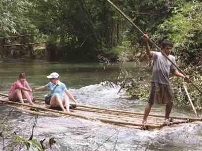 khao lak safari Bamboo rafting