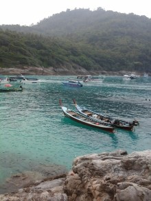Longtail Boats at Raya Yai Island