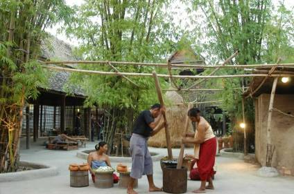 Siam Niramit Thai Village - Food processing