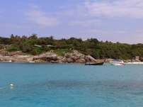 Boats at Racha Yai Island - Early Bird Snorkeling Tour from Phuket, Thailand