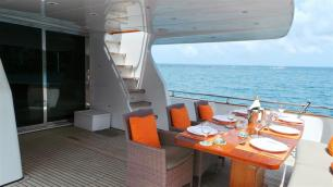 MY Victory Lower Deck Dining - Luxury Yacht Charter Phuket
