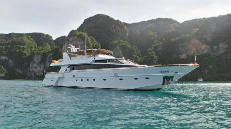 MY Victory front View 2 - Luxury Yacht Charter Phuket