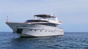 MY Victory front View - Luxury Yacht Charter Phuket