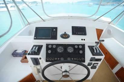 Reel Hooker cockpit - Phuket Boat Charters
