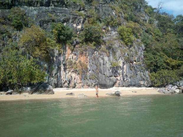 Phuket Tours Phang Nga Bay Caves & Sea Canoe - Koh La Na Island secluded beach