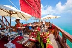 """Brunch auf See mit den Segelschiff """"Red Baron"""""""