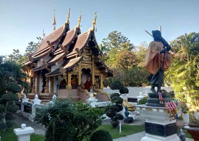 chiang mai,wiang kum kam-temple with buddha statue