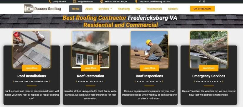 Roofing Website Snapshot