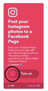 インスタグラムの写真をフェイスブックでシェア
