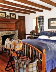 A comfortable guest bedroom,