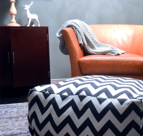 Easy DiY Chevron Pouf and Dog bed