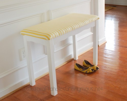 Easy DIY Small Entry Bench