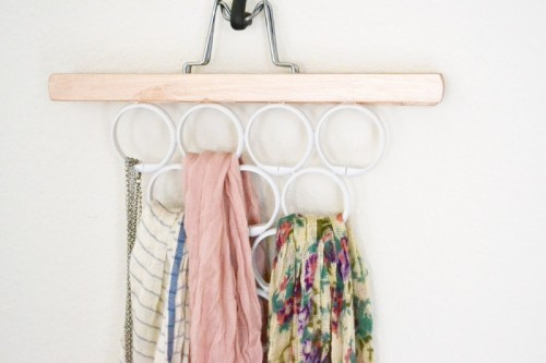 DIY scarf and accessory hanger