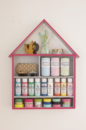 DIY for crafts storage house