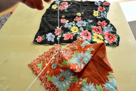 simple handkerchief table runner