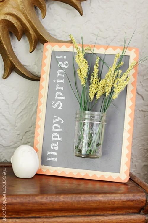 Happy Spring framed vase