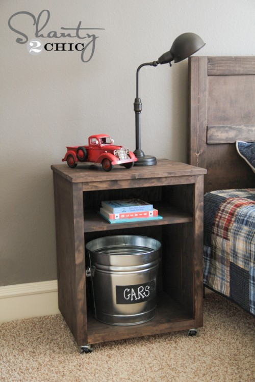 cool DIY modern nightstand