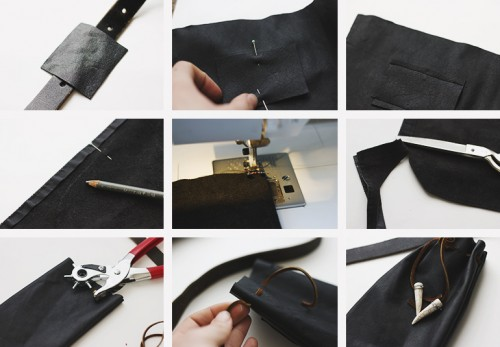 Homemade leather pouch DIY